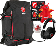 Supplied with - Free MSI GT Pack Backpack & Headset