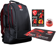 Supplied with - Free MSI GE Backpack & Accessories