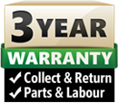 3 Year Parts / Labour and Collect / Return Warranty