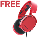 Free SteelSeries Arctis 3 Solar Red Gaming Headset with Select MSI Gaming Laptops