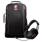 Supplied with - Free MSI Gaming Headset & Backpack on new GS & GT models