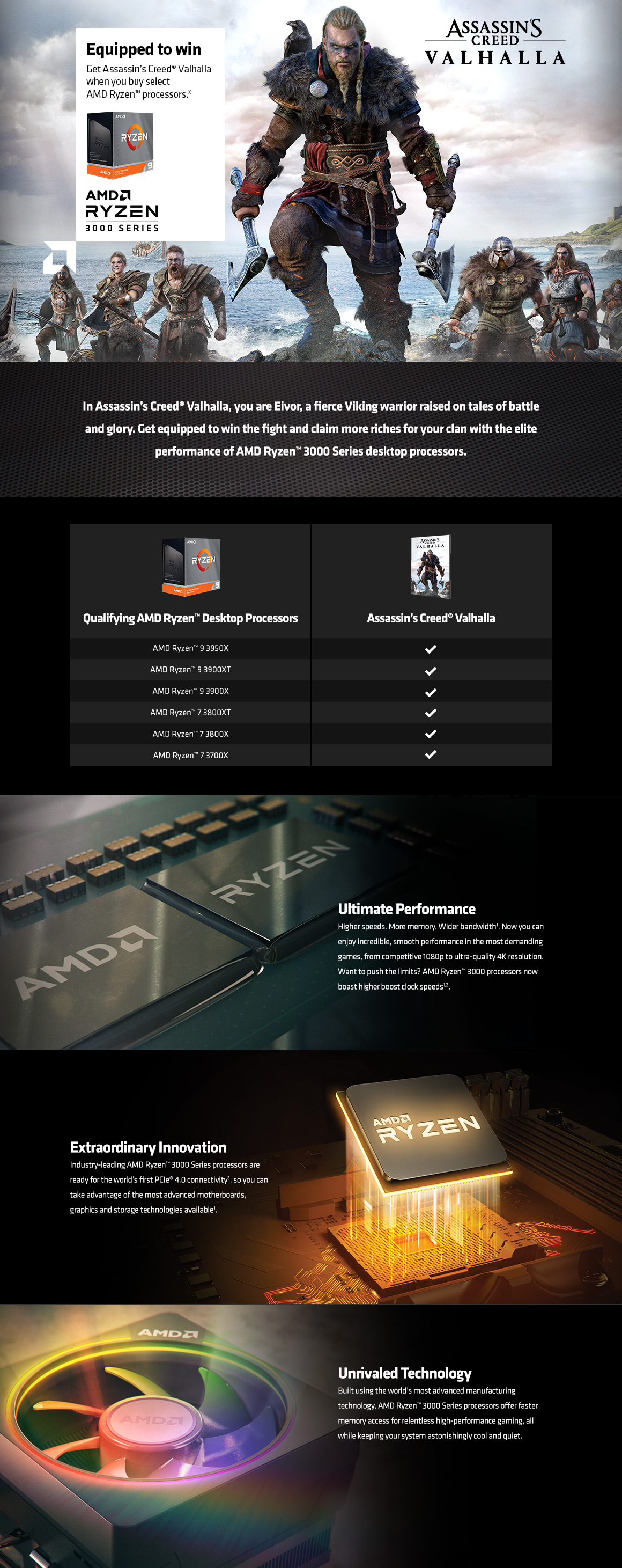 AMD Equipped To Win Promo