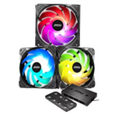 MSI Case - MSI MPG GUNGNIR 100D - Rainbow Fanpack Bundle