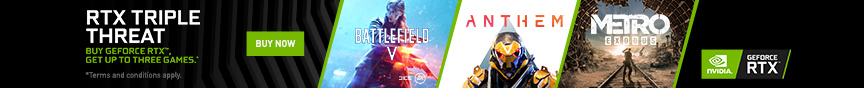Nvidia Promo2 RTX 2070 2060 VGA&Desktop-(Triple AAA games)BattlefieldV,Anthem,Metro Exodus(Pick ONE)