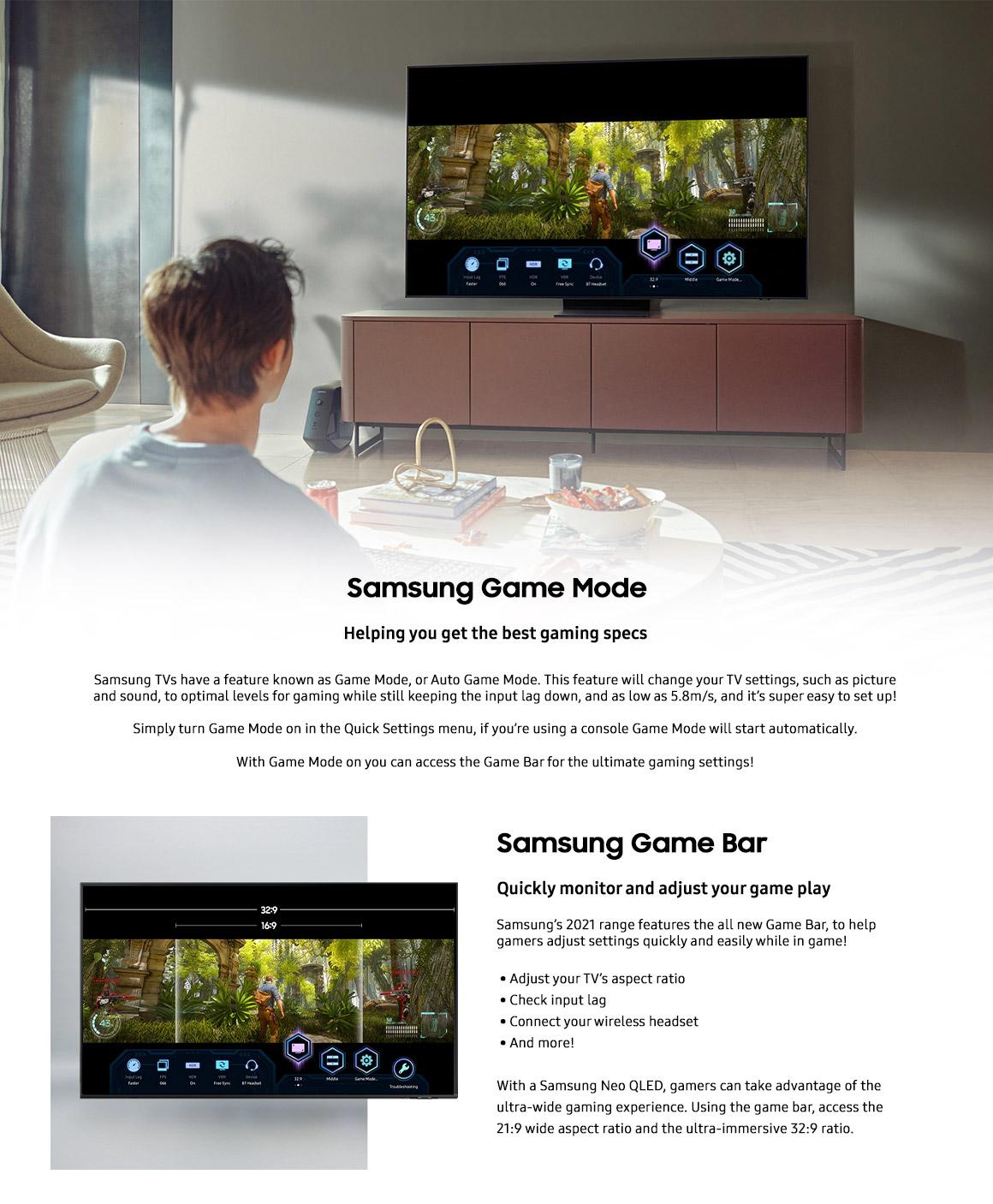 samsung tvs for gaming