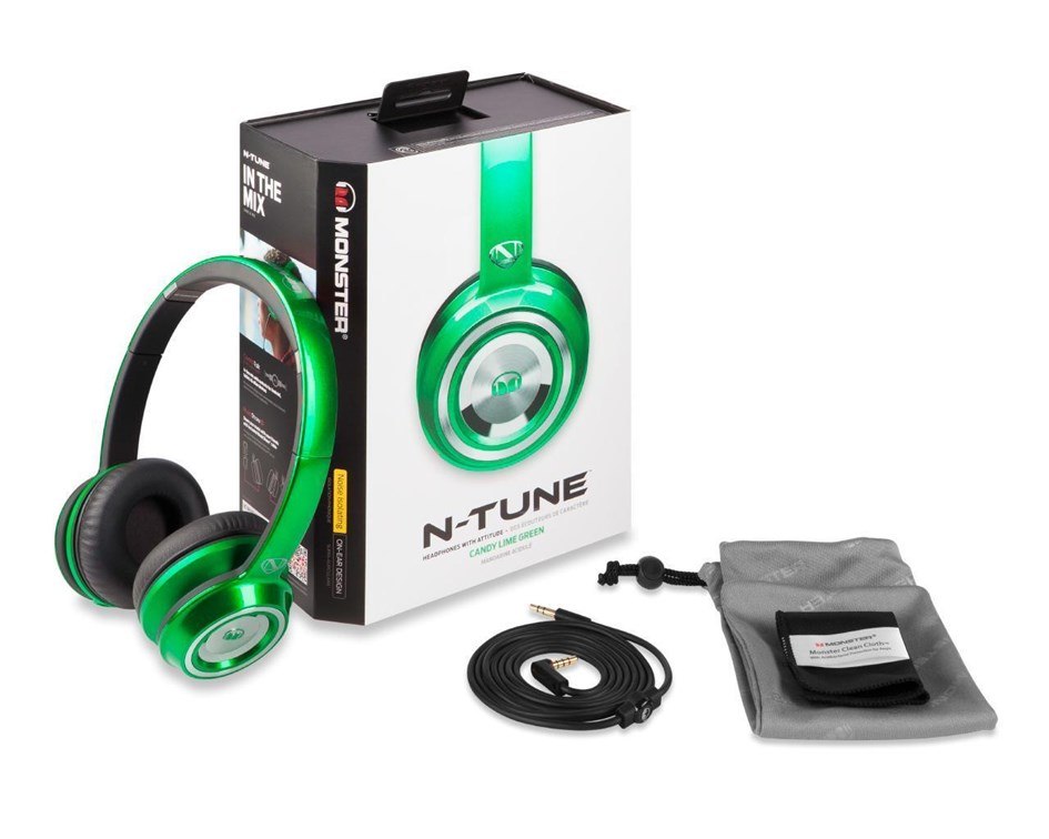 Monster NCredible NTune Candy On-Ear Headphones (Green)