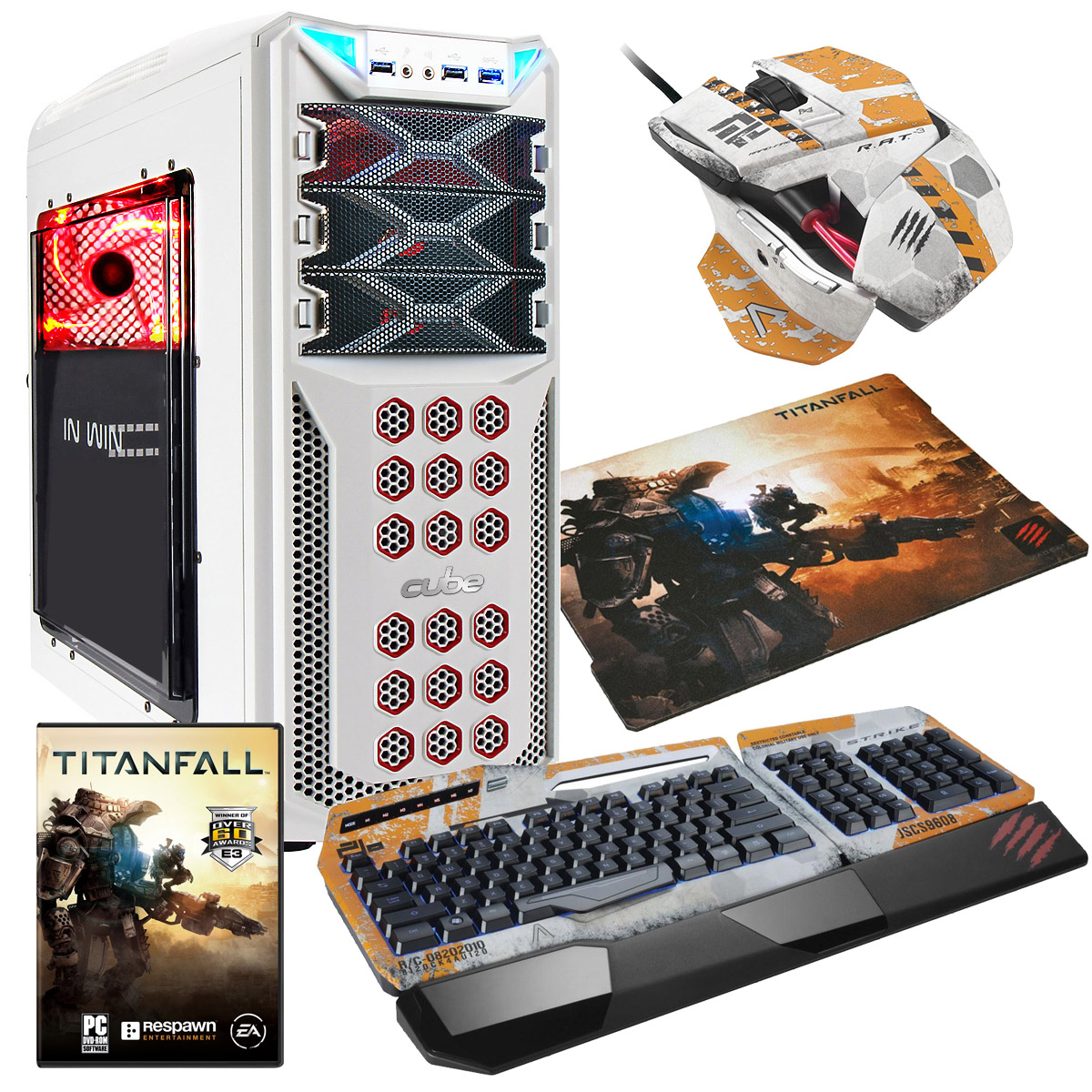 Cube Titanfall Gaming PC Bundle Core i5k with Mad Catz TitanFall Keyboard/Mouse & Surface