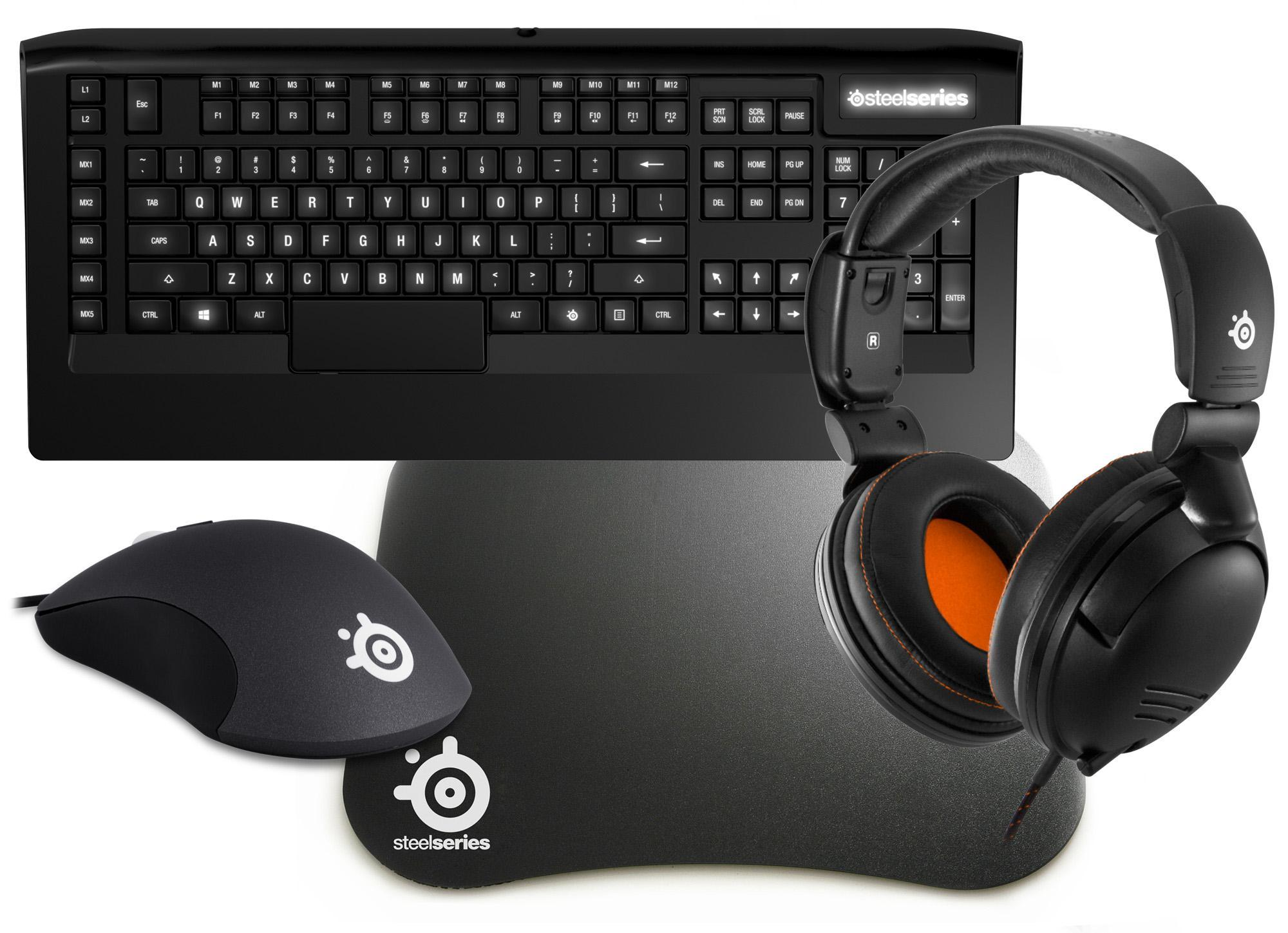 SteelSeries Mega Bundle 1 - Includes: Mouse Keyboard Headset & Surface