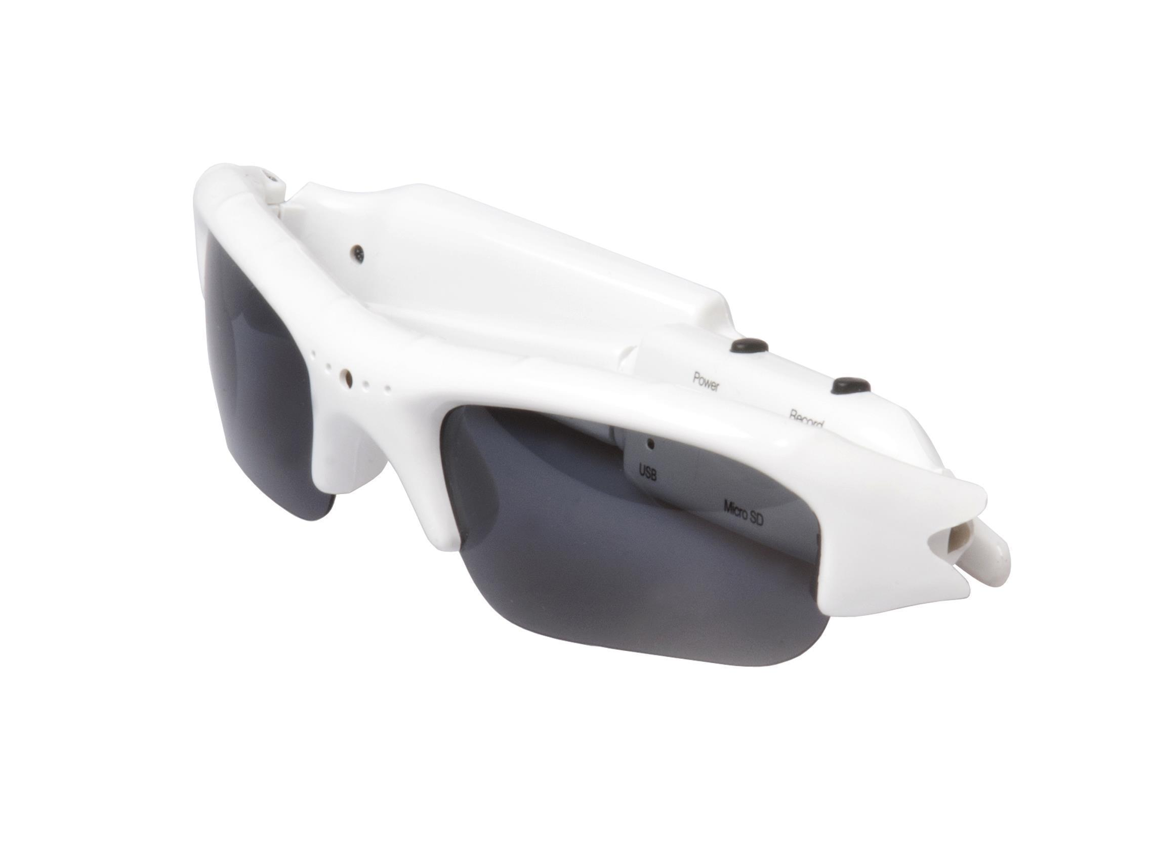 SunnyCam Video Recording Eyewear (White), SC001720WHT