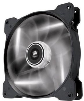 CO-9050017-WLED, Corsair Air Series AF140 LED White Quiet Edition 140mm High Airflow Case Fan - Single Pack