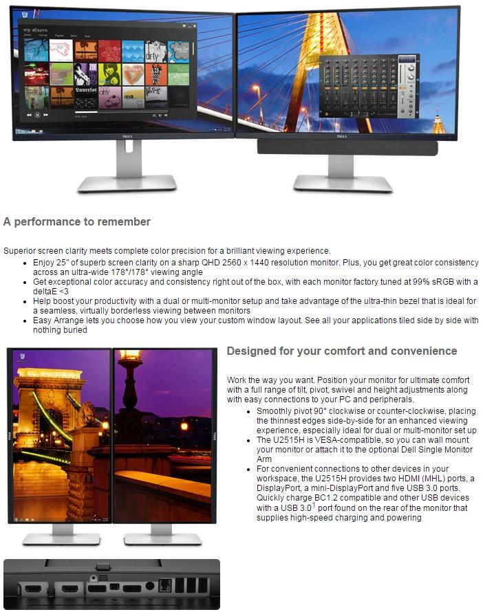 Dell - Display B2C 25In Led 2560X1440 169 6 Ms   Mntr
