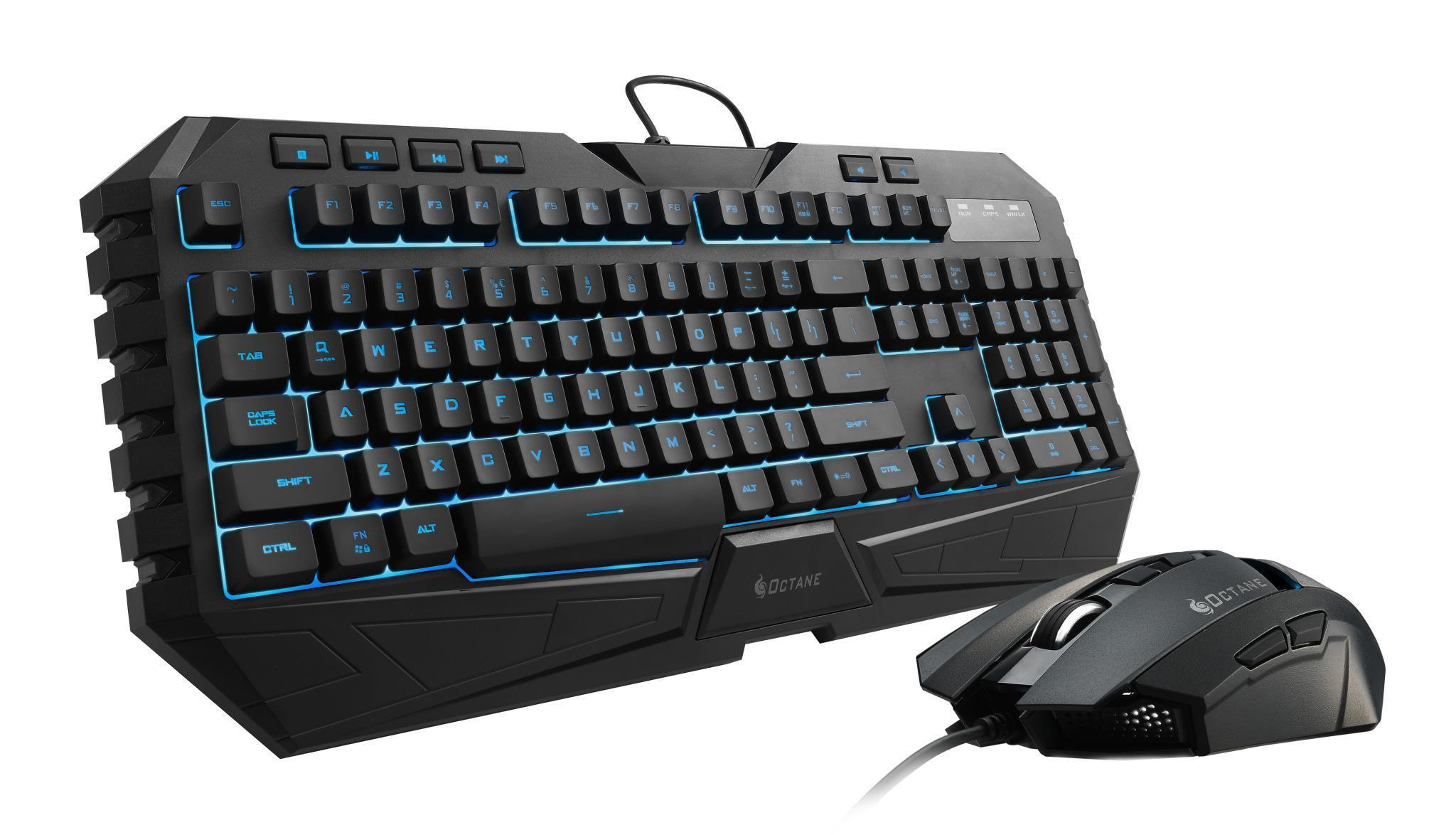 Cooler Master CM Storm Octane Gaming Gear Keyboard & Mouse Combo Bundle