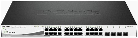 DGS-1210-28P, D-Link DGS-1210-28P 28 Port Gigabit PoE Smart Switch with 4 SFP Ports