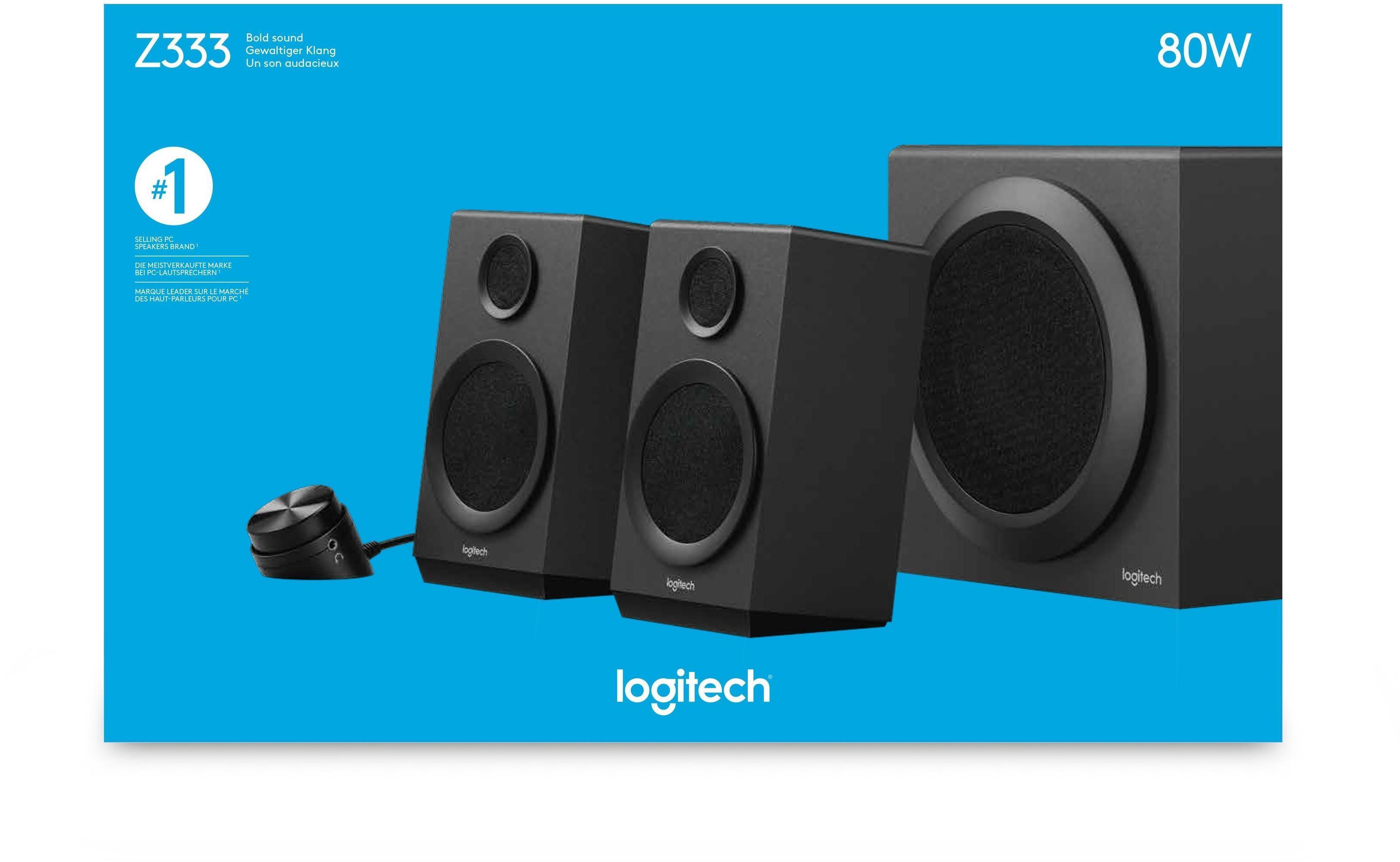 e4c962f6e6e Logitech Z333 2.1 Speaker System, 980-001201 | Box.co.uk