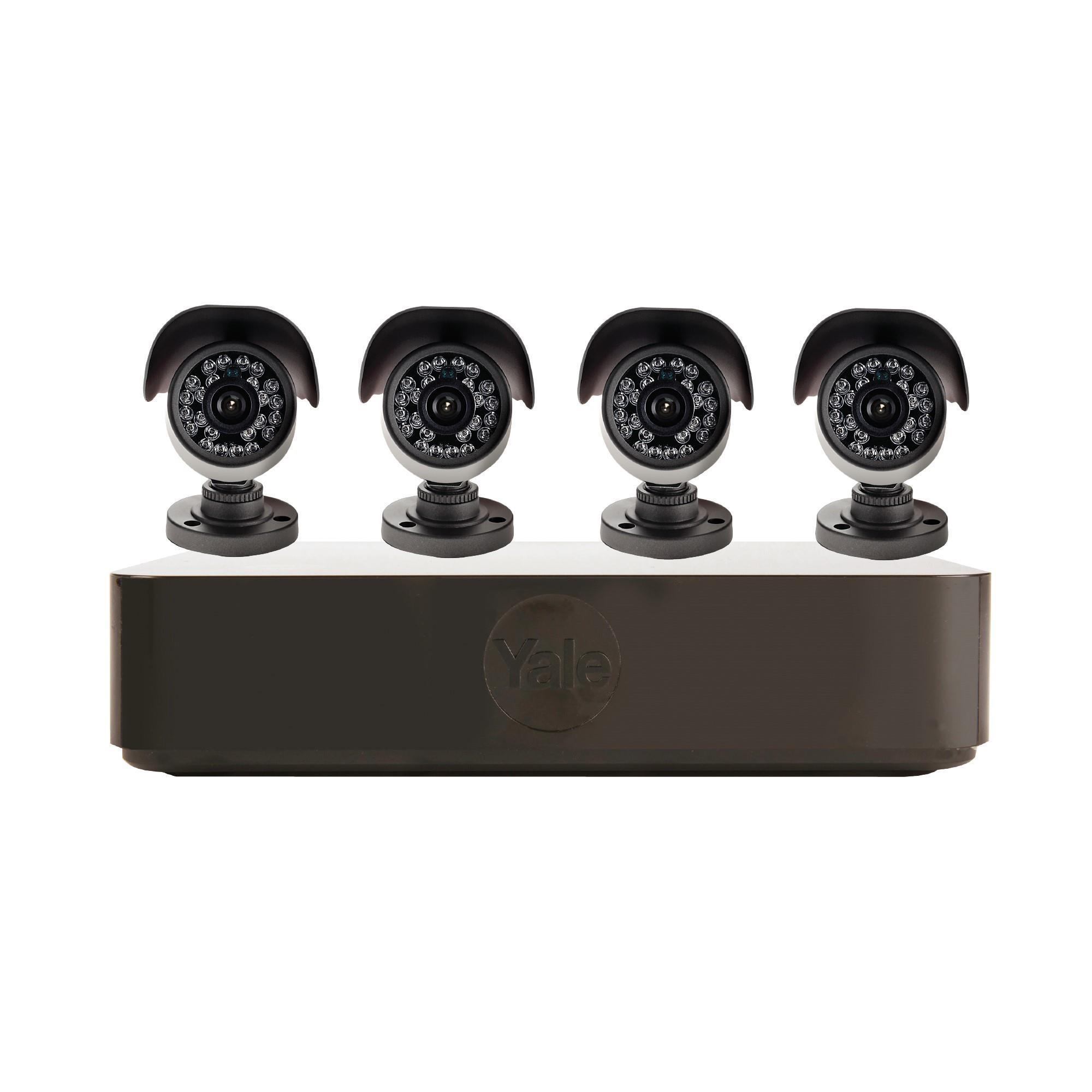 Yale Smart Living Hd720 8 Channel 4 Camera 1tb Hybrid Dvr