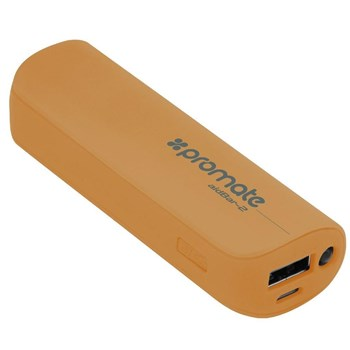 Promate aidBar-2 Power Bank Pocket Sized 2500mAh Back-up Battery (Gold), AIDBAR-2.GOLD