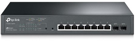 T1500G-10MPS, TP-Link T1500G-10MPS JetStream 8-Port Gigabit Smart PoE+ Switch with 2 SFP Slots
