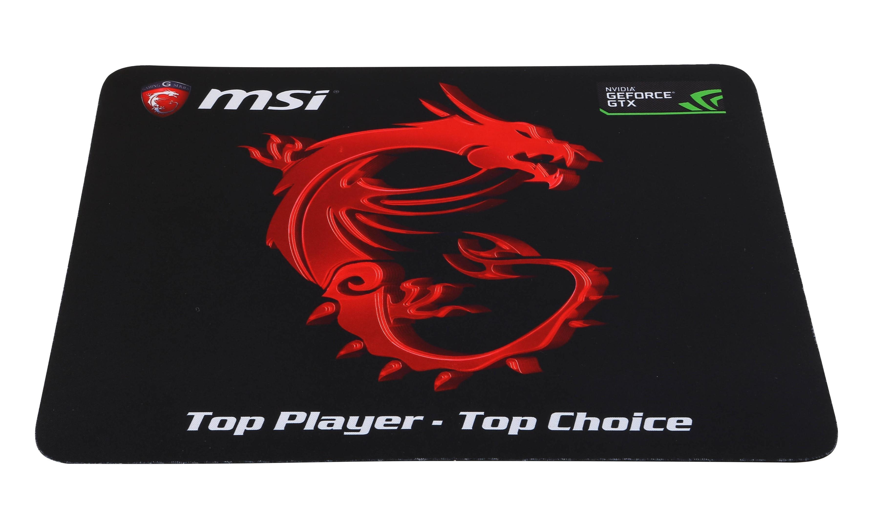 MSI Gaming Mouse Pad - Black/Red