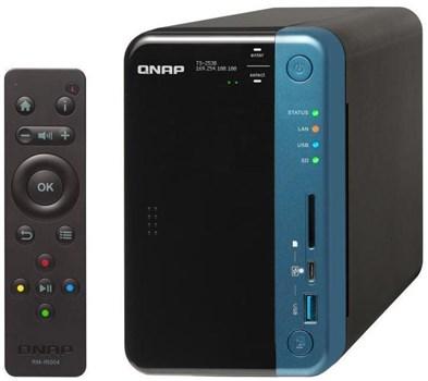 QNAP TS-253B-4G 4TB 2-Bay NAS with 2 x 2TB Seagate IronWolf