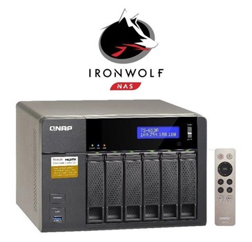TS-653A-4G/12TB-IW, QNAP TS-653A-4G/12TB-IW 6-Bay 12TB(6x2TB Seagate IronWolf) Network Attached Storage with 4GB RAM