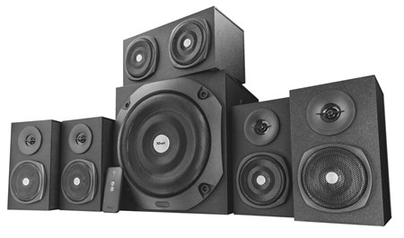 Trust Vigor 5.1 Surround PC Speaker System (Black), 22237