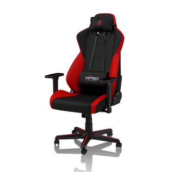 Nitro Concepts S300 Fabric Gaming Chair - Inferno Red, NC-S300-BR-UK