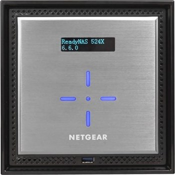 Netgear ReadyNAS RN524X 4-Bay Desktop NAS (Network-Attached Storage) Enclosure, RN524X00-100NES