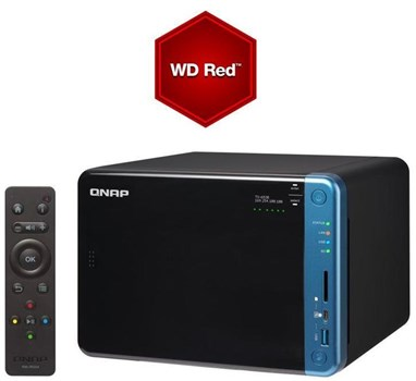 TS-653B-4G/60TB-RED, QNAP Turbo NAS TS-653B-4G/60TB-RED 6-Bay 60TB(6x10TB WD RED) QTS-Linux combo quad-core