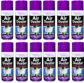 Air Duster Aerosol 400ml 12 pack, 9957