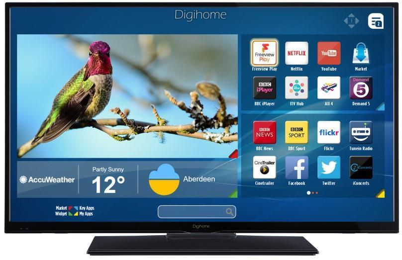Digihome 43UHDCNTD 43 Inch UHD 4K Smart LED TV with Freeview Play