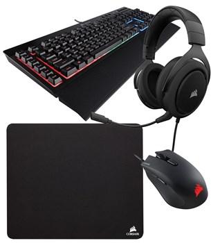 Corsair Gaming Bundle - K55 RGB Keyboard + Harpoon Mouse HS50