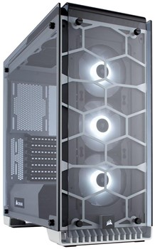 CC-9011110-WW, Corsair Crystal 570X RGB Tempered Glass Mid Tower Case - White
