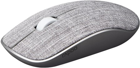 Rapoo 3510 Plus 2.4GHz Wireless Optical Fabric Mouse - Grey, 17514