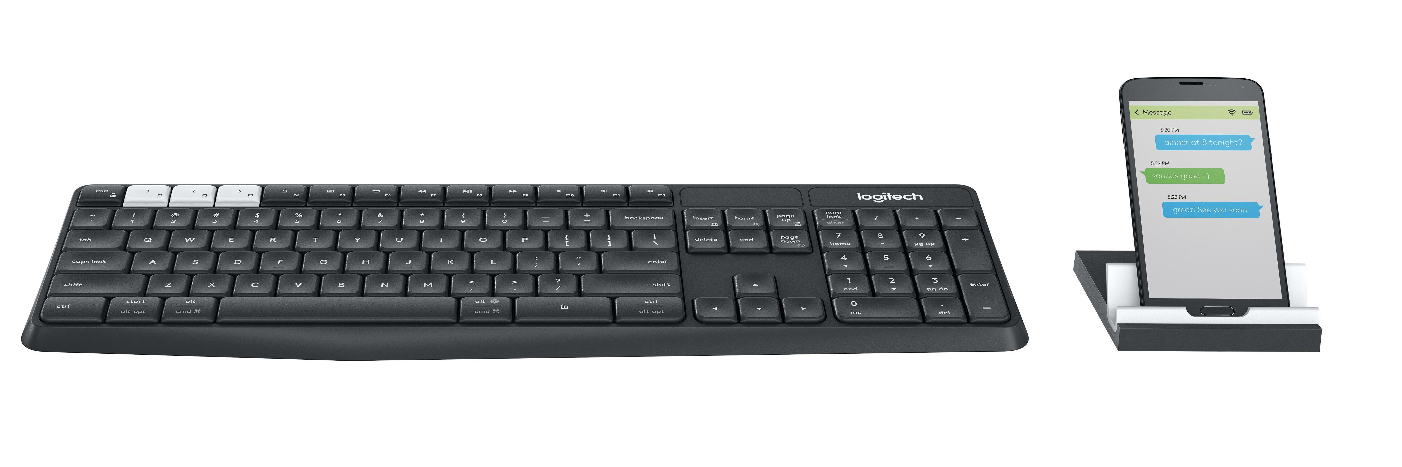 e57396cbd51 Logitech K375s Multi-Device Wireless Keyboard and Stand Combo,