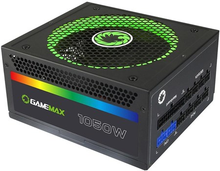 RGB-1050, Game Max RGB 1050W 80 PLUS Gold Fully Modular PSU Power Supply
