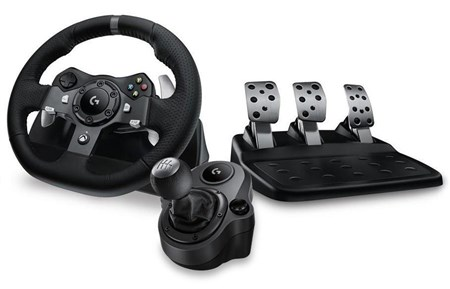 Logitech G G920 Driving Force Racing Wheel + Gear Shifter Bundle for Xbox One & PC, 941-000124
