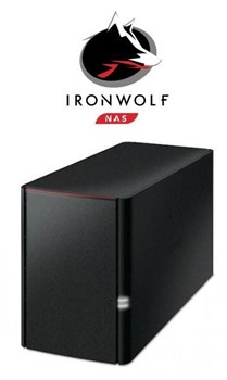 Buffalo LinkStation™ 220D/2TB-IW 2-Bay 2TB(2x1TB Seagate IronWolf) Network Attached Storage, LS220D/2TB-IW