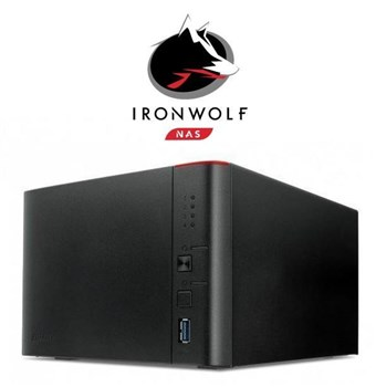 Buffalo LinkStation™ 441D/4TB-IW 4-Bay 4TB(4x1TB Seagate IronWolf) Network Attached Storage, LS441D/4TB-IW