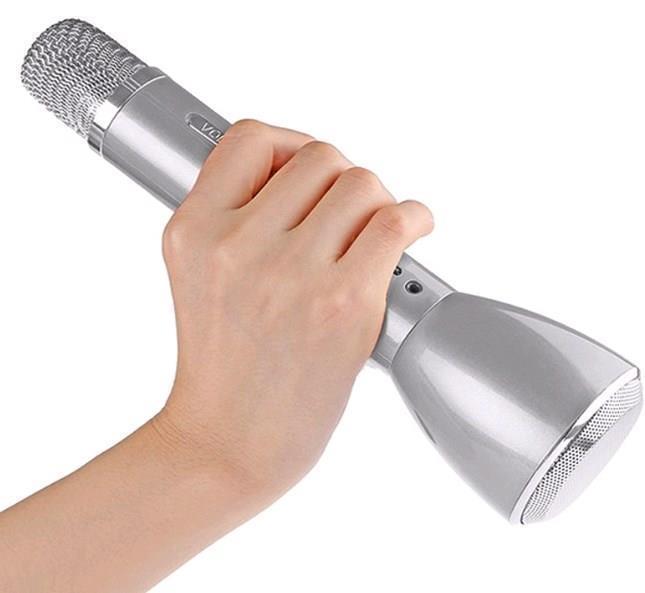 Hand KTV Wireless Mircophone & Speaker- Silver
