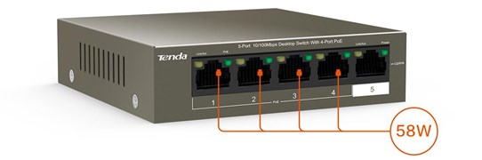 Tenda TEF1105P 5 Port PoE Ethernet Switch