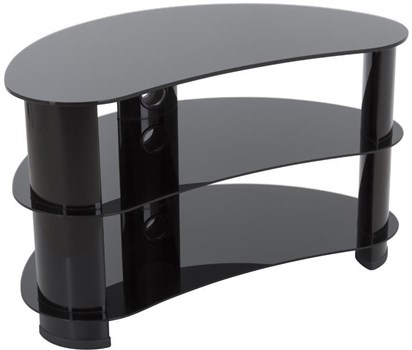 AVF FS850CURBB Reflections - Jelly Bean Curved TV Stand,