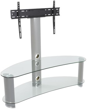 AVF FSL1200CURCS Reflections - Jelly Bean Curved Pedestal TV Stand,
