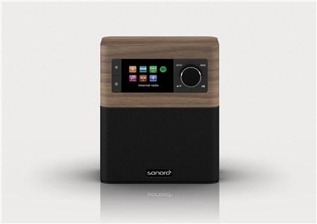 Open Box) Sonoro Stream Smart DAB Radio Walnut Black,