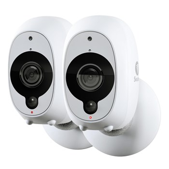 Swann Smart Security Cameras 2 Pack: x 1080p Full HD Wireless with True Detect PIR Heat/Motion Sensor/Night Vision & Audio, SWWHD-INTCAMPK2-UK