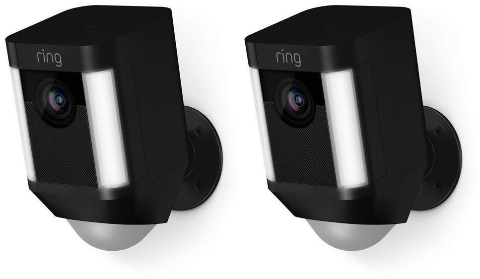 Ring Spotlight Camera Battery Black Dual Pack