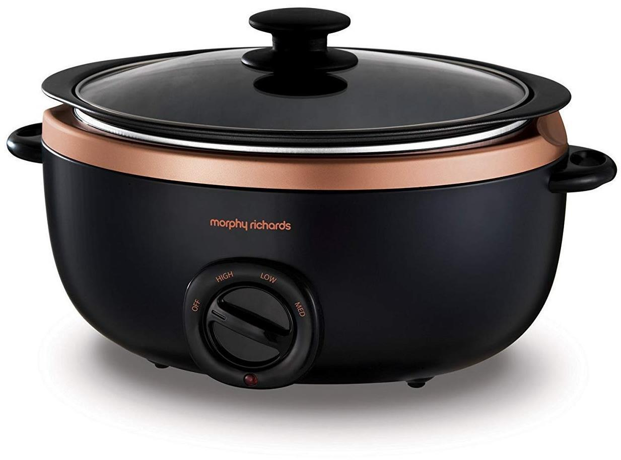 Morphy Richards Black & Rose Gold Evoke 3.5L Sear & Stew Slow Cooker (460016)