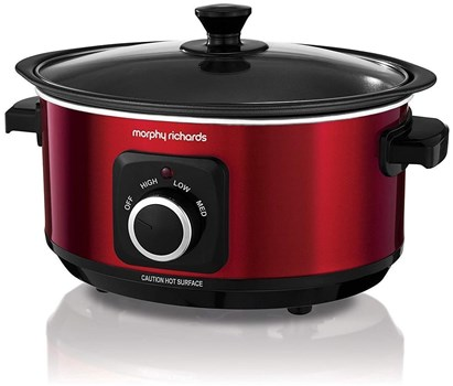 Morphy Richards Red Evoke 3.5L Sear & Stew Slow Cooker (460014), 460014