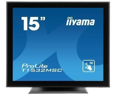 "iiyama PROLITE T1532MSC-B5AG 15"" Projective Capacitive 10pt touch screen Monitor with AG-coating,"