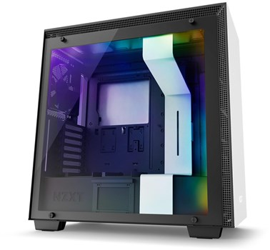 CA-H700W-WB, NZXT H700i RGB Tempered Glass Mid Tower Case - White