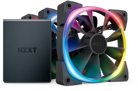 HF-2812C-T1, NZXT Aer RGB2 120mm Case Fan with Hue2 Controller - Triple Pack